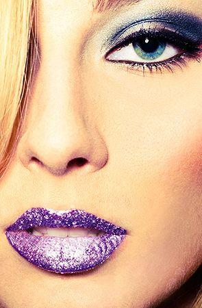 Violent Lips  The Lavender Glitteratti Lip Tattoo