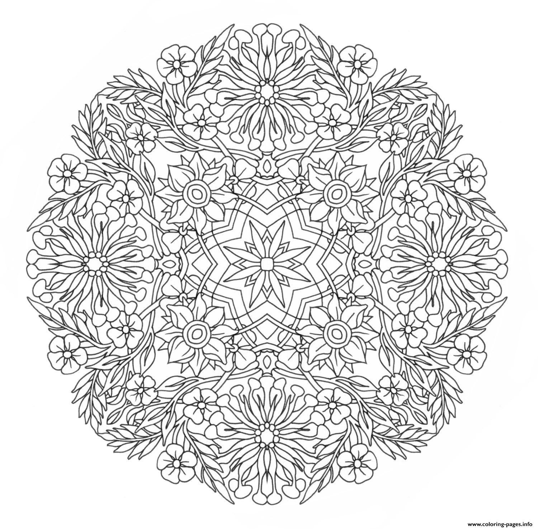 Print Advanced Mandala Complex Creative Design Coloring Pages Mandala Coloring Mandala Coloring Pages Flower Coloring Pages