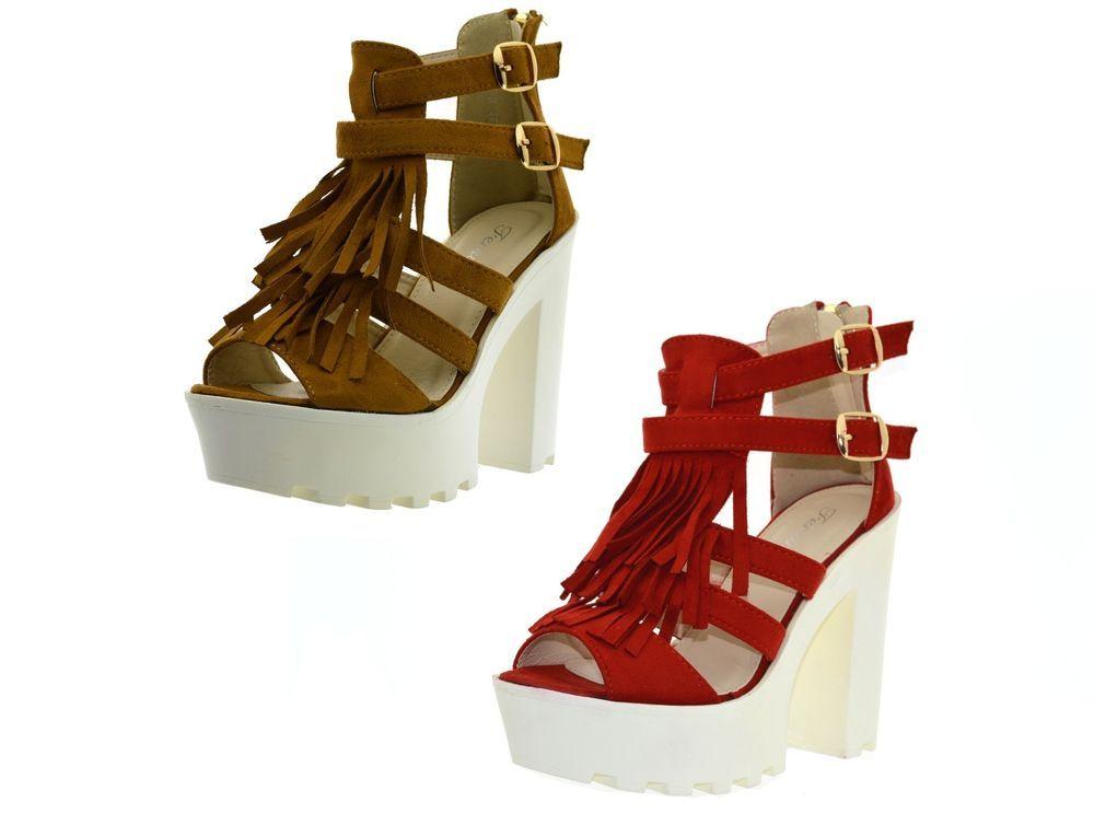 Sandali donna spuntati scarpe con la zeppa estive tronchetti aperti con  tacco 506f69c0b25