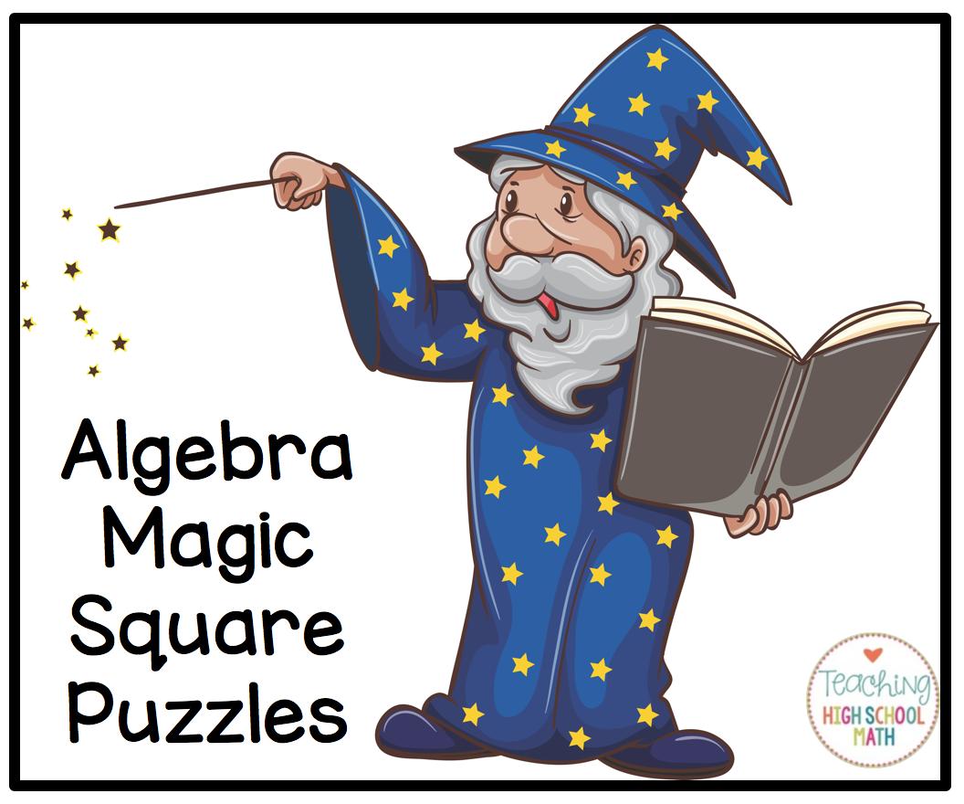 Algebra Magic Square Puzzles Order Of Operations Solving