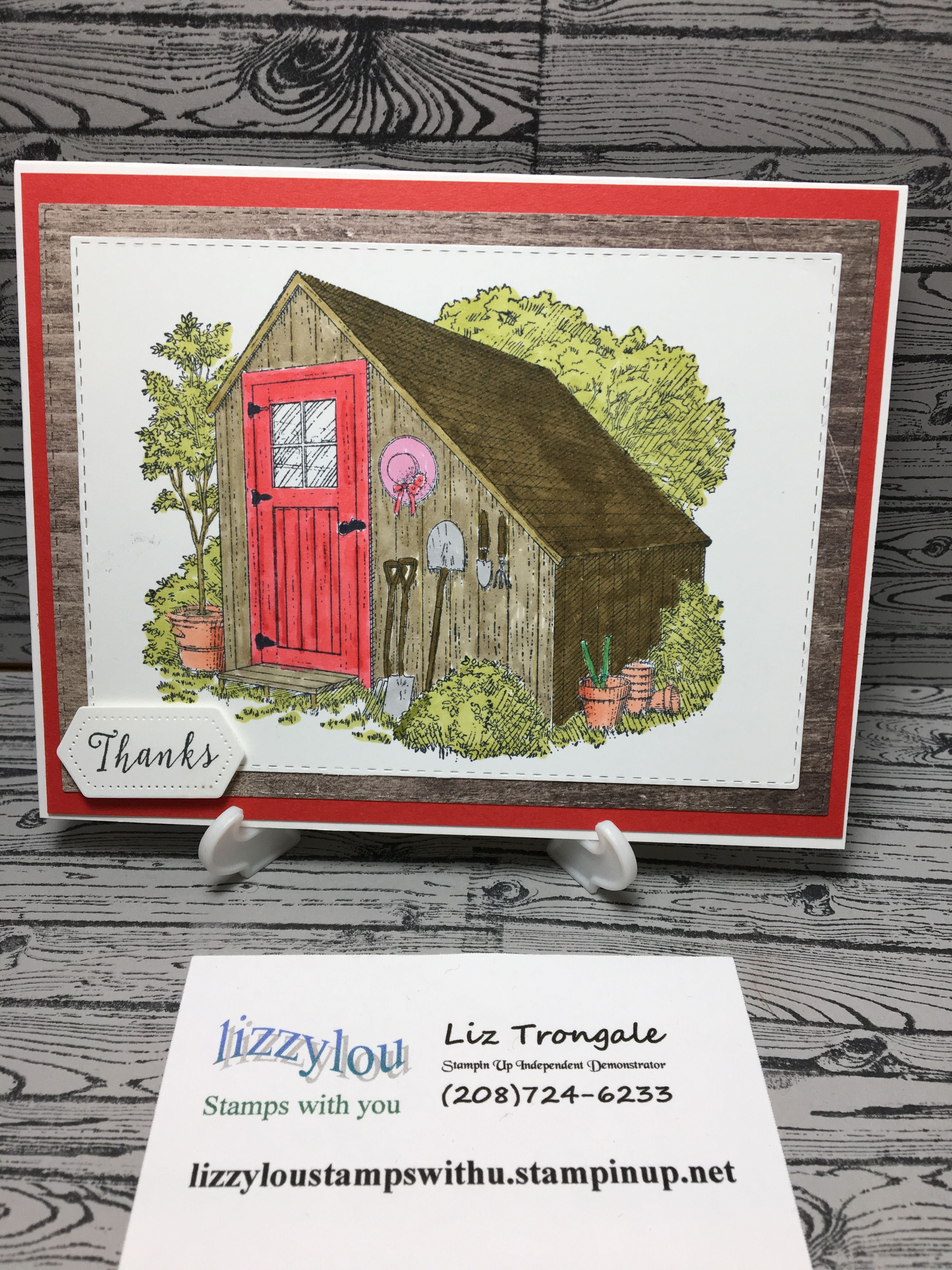 Garden shed from Stampin Up Garden shed ideas australia