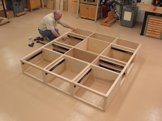 How to Make Your Own DIY Platform Bed with Storage   Shaker style  Diy platform  bed and Make your. How to Make Your Own DIY Platform Bed with Storage   Shaker style
