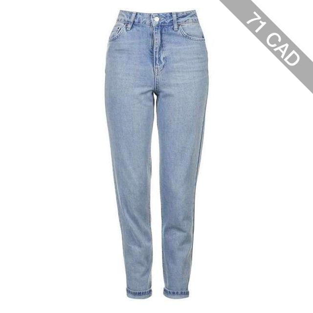 TopShop Moto Light Bleach Mom Jeans