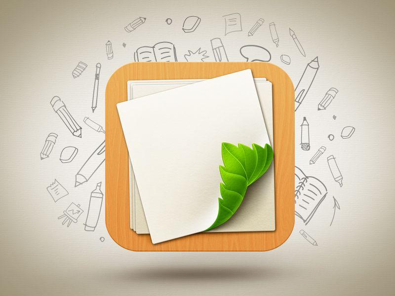 Dribbble - Loose Leaf app icon by Artua
