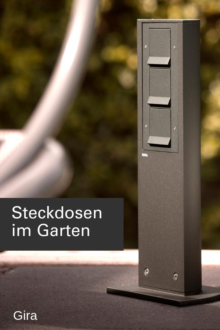 Steckdosen Im Garten Gartensteckdose Diy Mobel Holz Steckdosen Und Lichtschalter