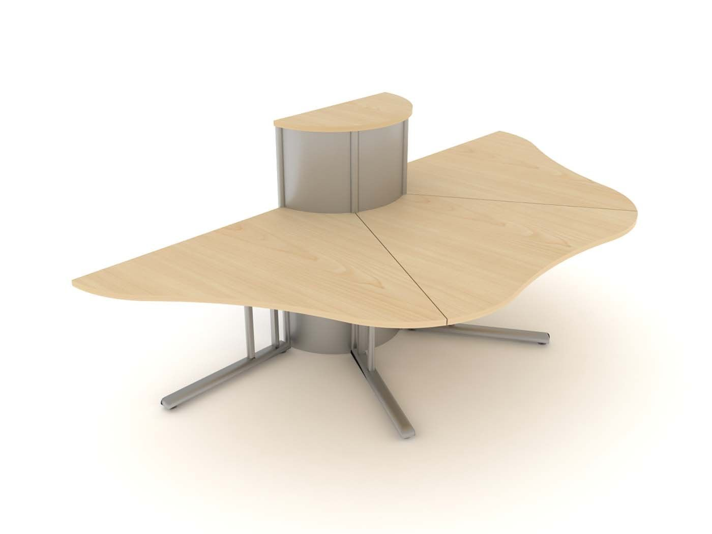Circular Office Desks Cubicle Elite Office Furniture Person Call