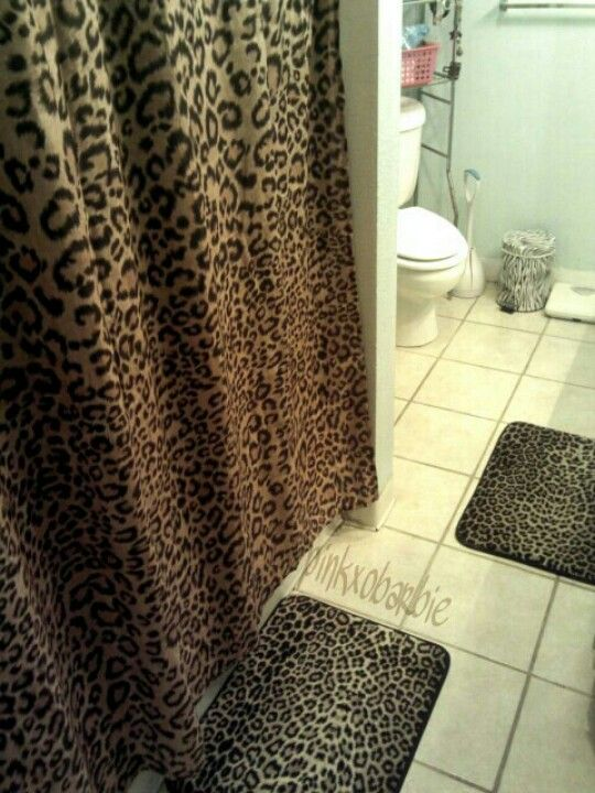 My Future Bathroom Minus The Zebra Trash Can Leopard Print