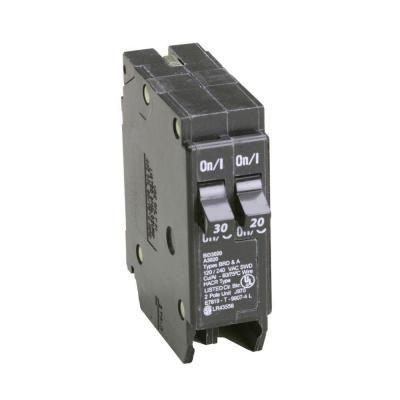 Eaton Bd 1 30 Amp 1 20 Amp Single Pole Tandem Ctl Circuit Breaker Bd3020 The Home Depot Circuit Eaton Corporation Breakers