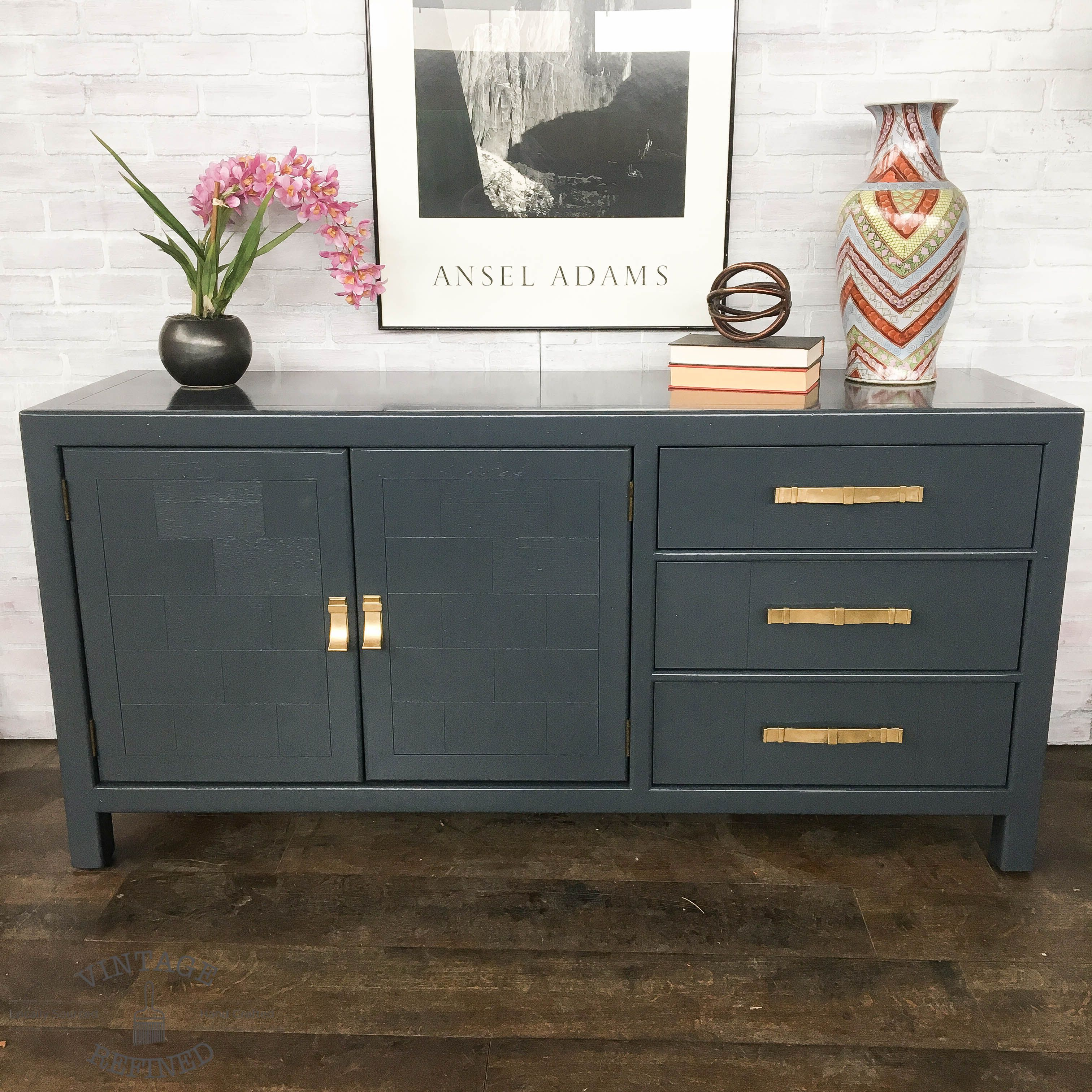 diy lacquer furniture. Furniture Redo · Diy Household Tips Modern Buffet Painted In Dark Grey Lacquer N