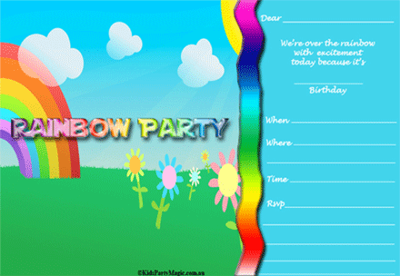 childrens party invites free
