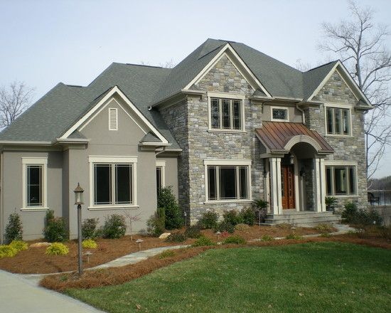 Stucco And Stone, gray   Home Designs...Exterior   Pinterest   Kerb