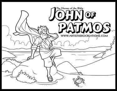 The Heroes Of The Bible Coloring Pages John Of Patmos Bible