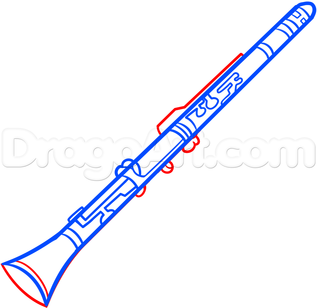How To Draw A Clarinet For Kids Step By Step