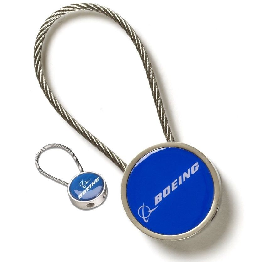 0e98bbabaab Officially licensed from the Boeing company this is a strong and sturdy  metal keychain featuring a cable that can withstand up to 25 pounds