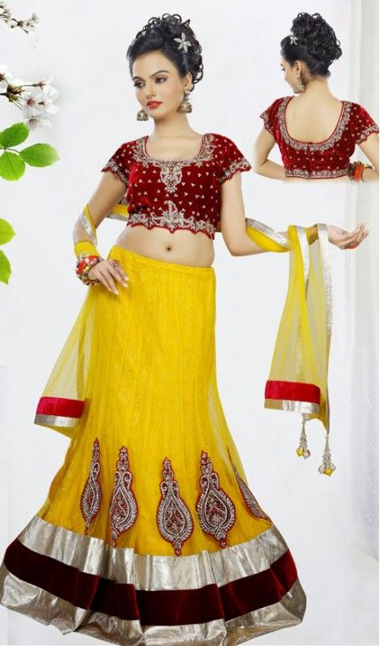 Charming Yellow Lehenga Choli