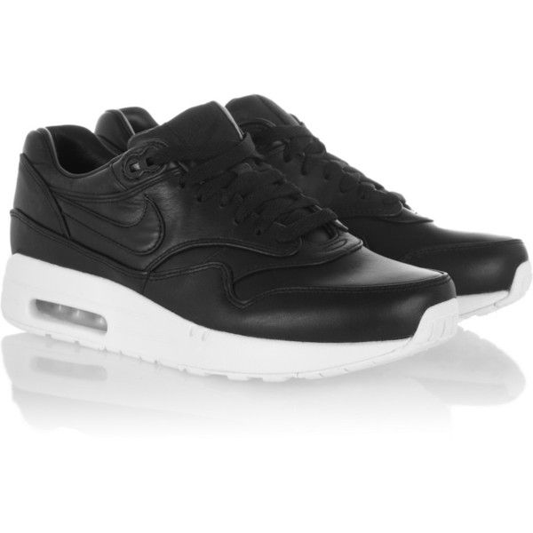 Nike Air Max leather sneakers ($120) ❤ liked on Polyvore