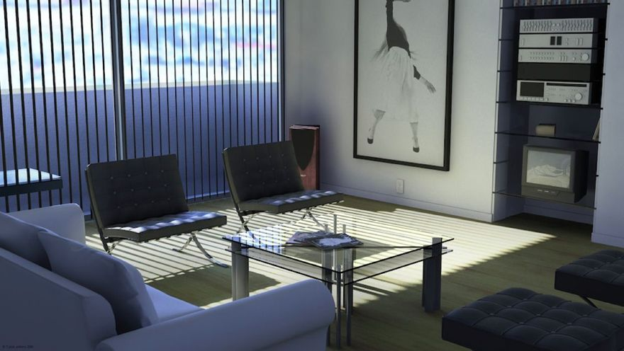 Living Room From American Psycho