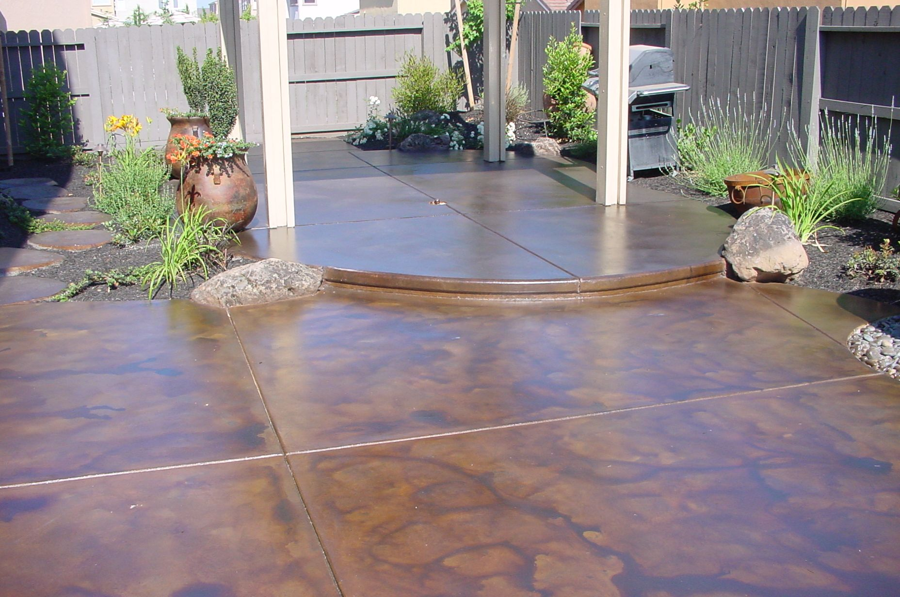 Stained Concrete Concrete Patio Designs Paint Concrete Patio