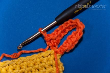 Topflappen häkeln: Rand und Schlaufe | Crochet - Things to crochet ...