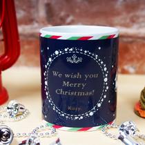 [歡慶耶誕]聖誕馬克杯-雪夜馴鹿(藍)