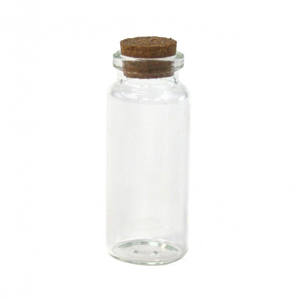 Vial Glass Cork Jars - Tall [4040 Mini Glass Cork Jar Favor ...