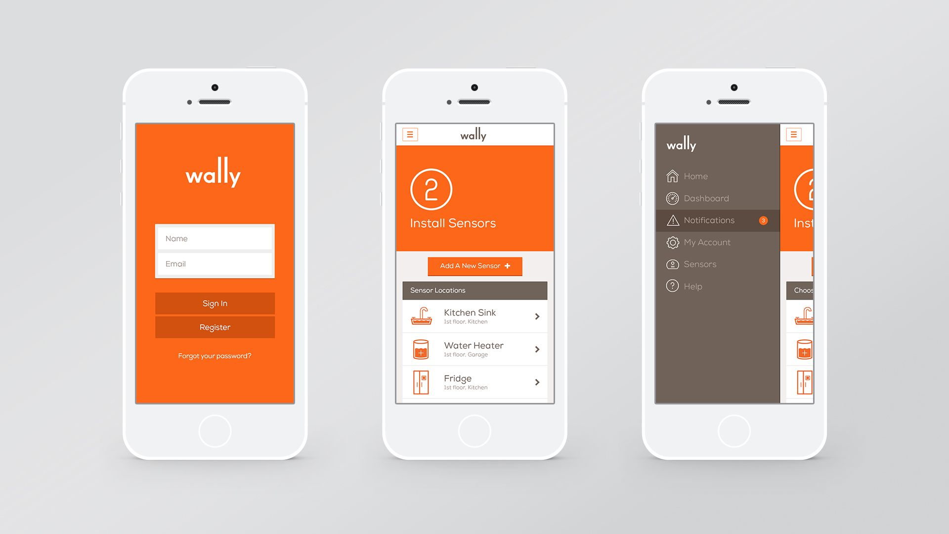 wally app design by character