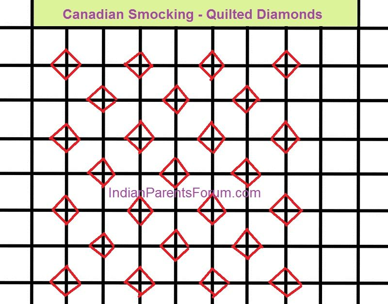 Canadian Smocking Tutorial 13 Quilted Diamonds Smocking Tutorial Canadian Smocking Smocking