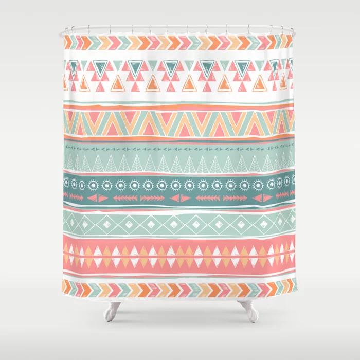Navajo Tribal Pattern Shower Curtain By Linarunkova Society6