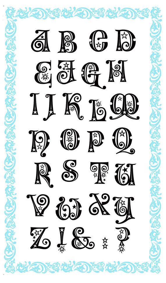 Alphabet clear stamps set Wonderland FLONZ 711 acrylic clingy unmounted