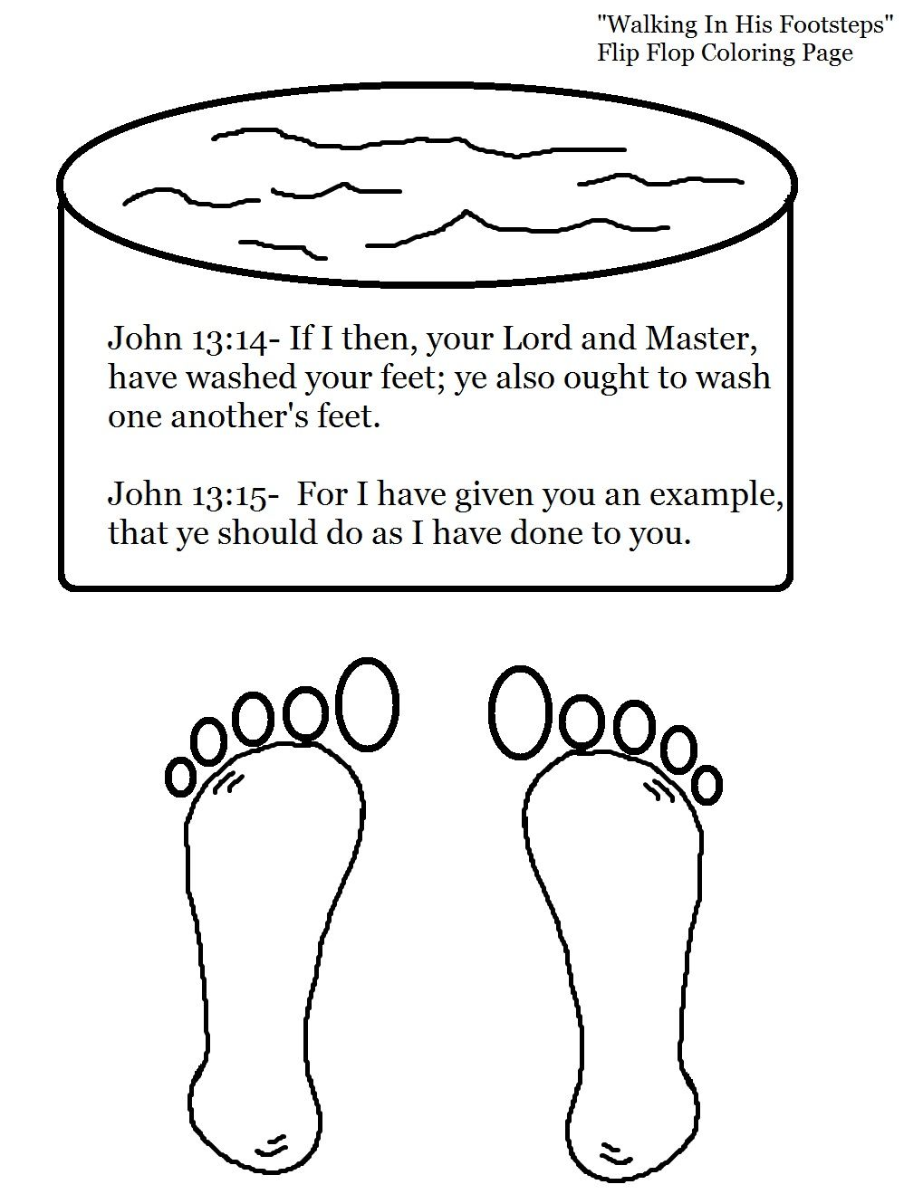 Mary Washing Feet Coloring Page