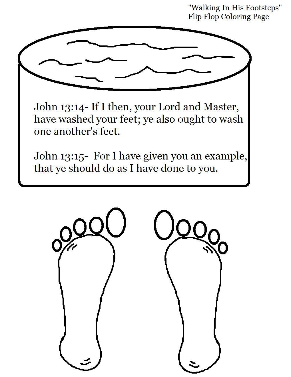 bible craft john 13:15 | Flip Flop Sunday School Lesson