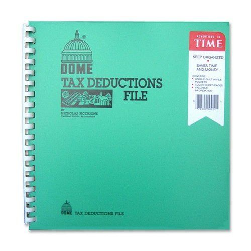 Dome 912 Tax Deduction File, W/ Pockets, 11 In.x9-3/4 In