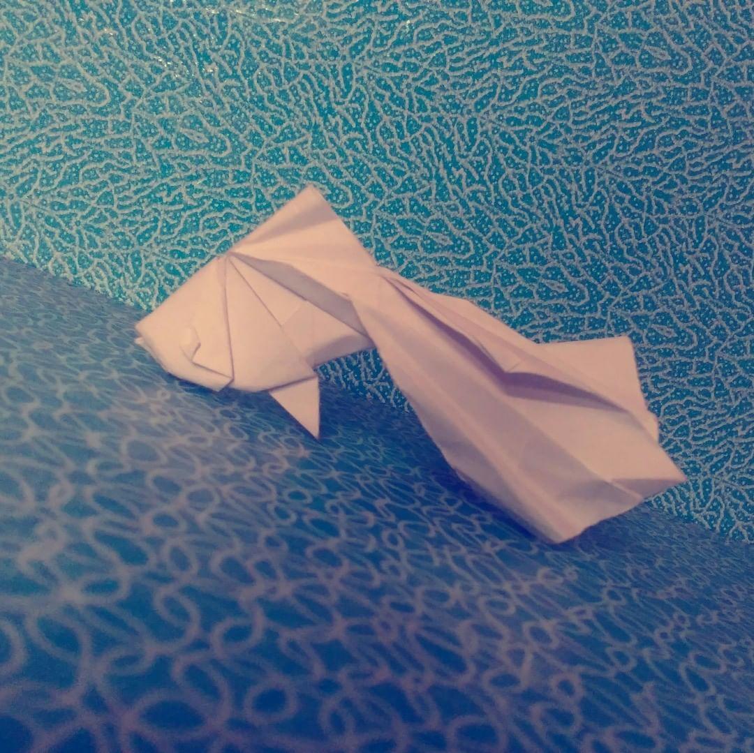 """Σριράμ on Instagram: """"Origami whatever-this-fishname-is! . . . #origami #origamis #origamiindia #origamisavage #origamiart #origami_lovers_of_insta #origamilove…"""""""