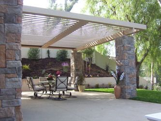 Delightful Weatherproof Patio Cover