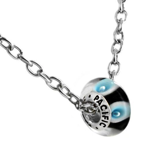 "925 Sterling Silver Murano Style Glass Bead with 19"" Chain- I Like You Blue (Pandora and Chamilia Compatible) Pacific Beads. $7.95. Save 47% Off!"