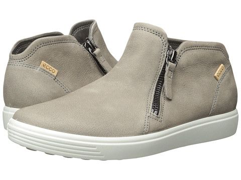 72e3fa53dd ECCO Soft 7 Low Cut Zip Bootie Women's Shoes Warm Grey/Powder in ...