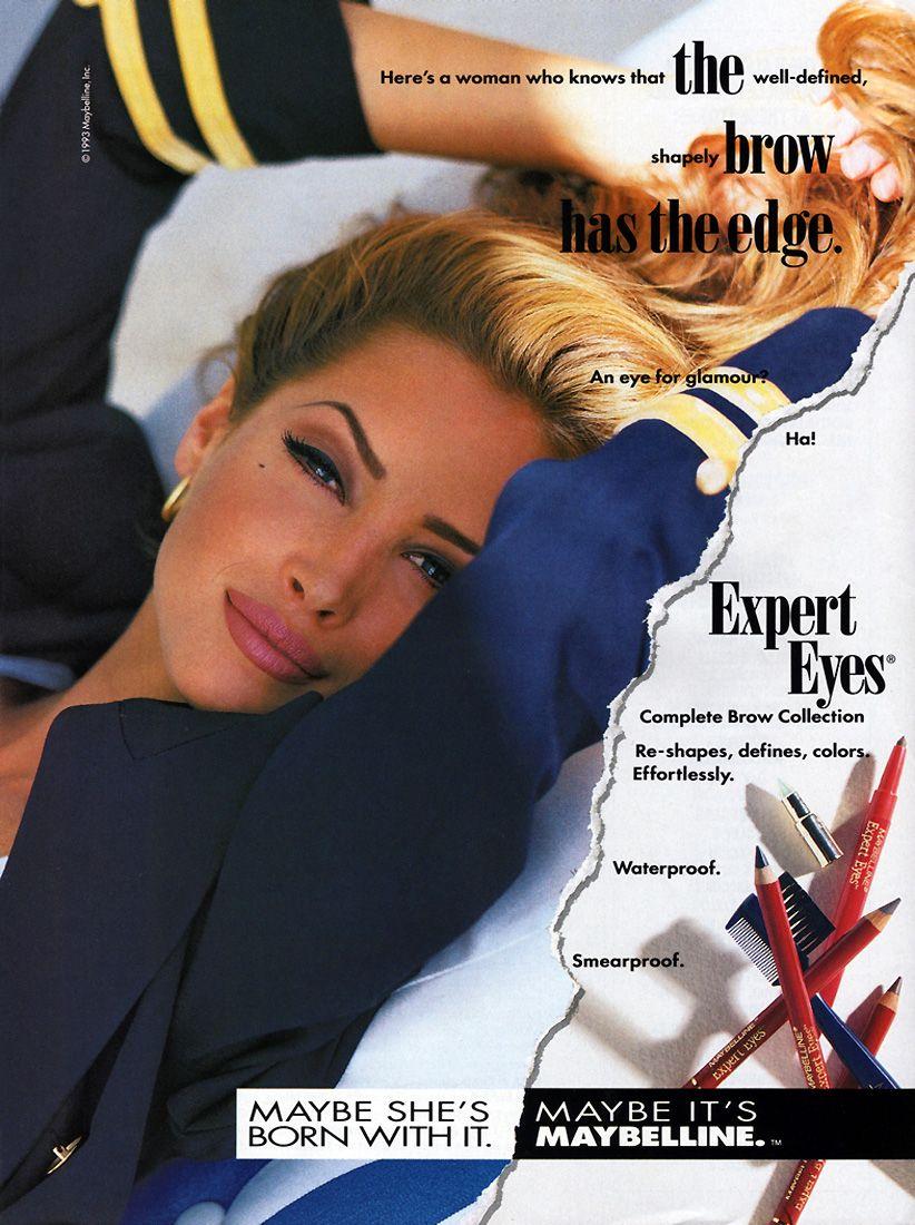 Love the eye make-up...Christy Turlington looks the same as she did 20 years ago (amazing skin!)