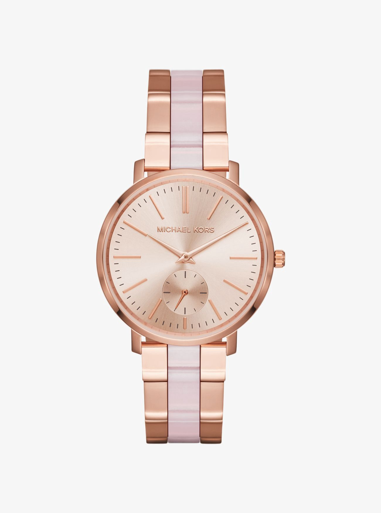 c43c825f153d Michael Kors Jaryn Rose Gold-Tone And Acetate Watch - Gold