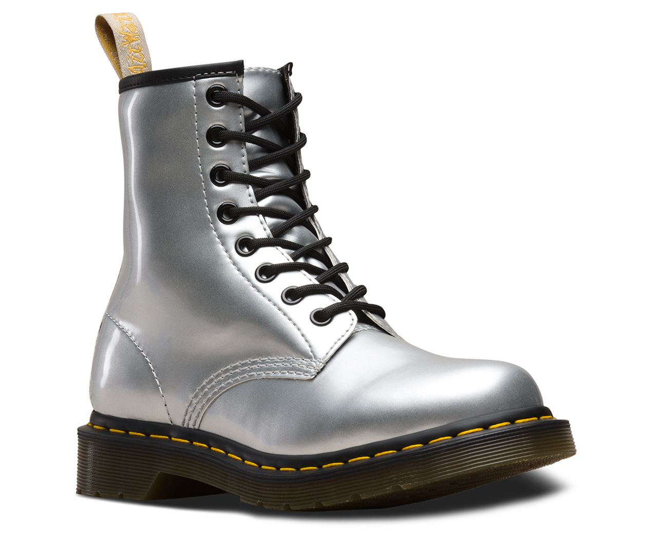 Dr martens vegan 1460 metallic chrome | Boots, Doc martens