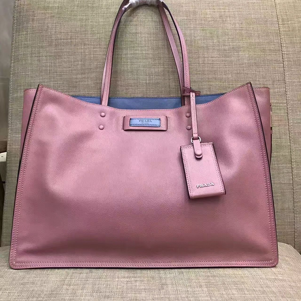 c013edc5e92d Prada tote bag lotus / astral blue in 2018 | [GROUP BOARD] Handbag ...