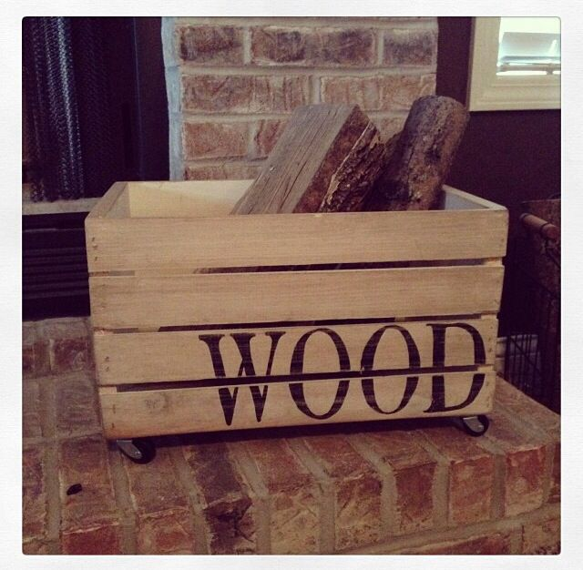 DIY Firewood box Wood Projects Pinterest Box Wood projects