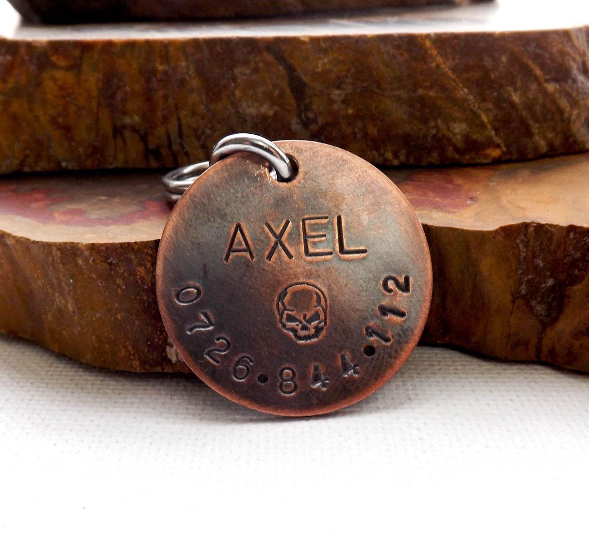 Copper Dog ID Tag