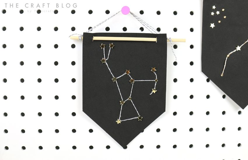 diy constellation craft with free printable template diy craft projects constellation craft. Black Bedroom Furniture Sets. Home Design Ideas