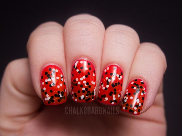 Dandy Nails Colorblind over  China Glaze Rose Among Thorns.