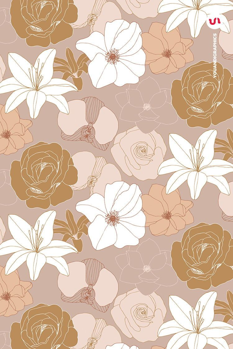 Blooming Garden Floral Patterns a set of Seamless Vector Patterns, Flower Illustrations and Vector Floral Compositions  created by line art hand drawings. A selection of hand drawn flowers in  elegant line work and a lovely blush/gold color palette that creates a  unique selection of seamless floral patterns. All elements used in the set have been individually hand drawn then turned into vectors and combined into beautiful sets of Illustrator patterns!