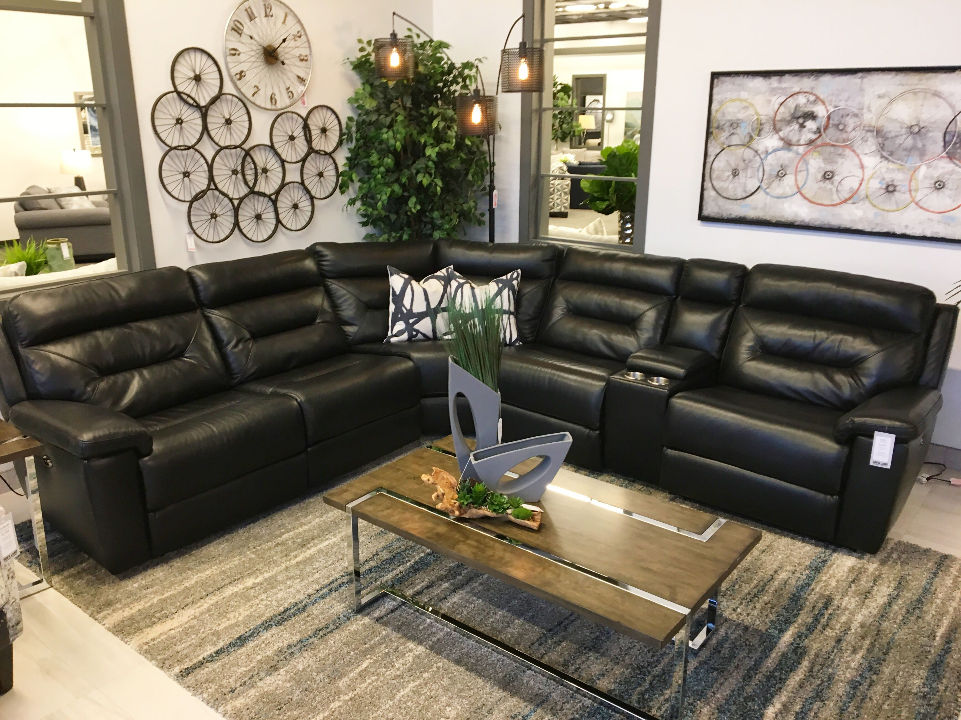 Kade Living Recline In Style With Our Kade Power Reclining Sectional This