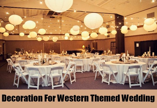Table Decorations For Western Themed Wedding | Wedding - Rough Draft ...