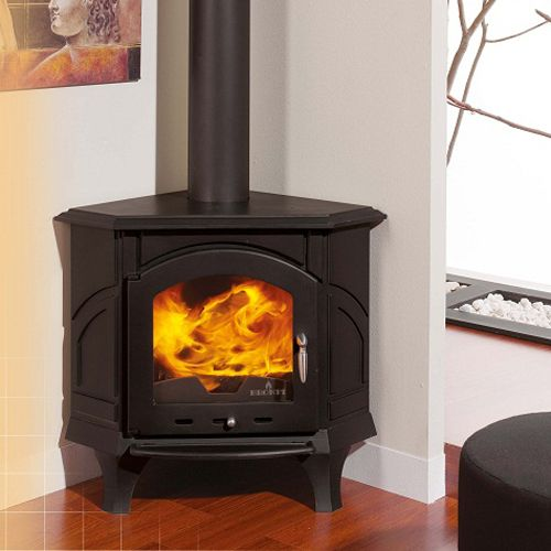 corner wood stove | Bronpi Altea Corner Wood Burning Stove ...