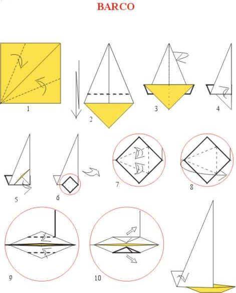 Origami De Barco A Vela Com Imagens Diagramas De Origami