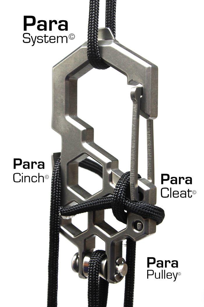 El mosquetón para paracord y multi-herramienta para llevar todos los días // The carabiner for paracord and multi-tool for everyday carry